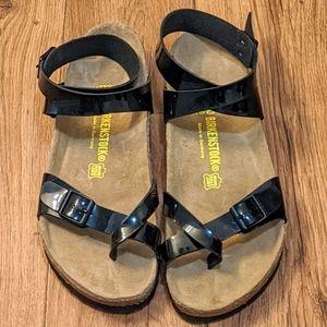 Birkenstock Yara Patent Leather Gladiator Sandals